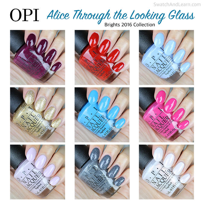 OPI Alice through the Looking Glass Collection Swatches