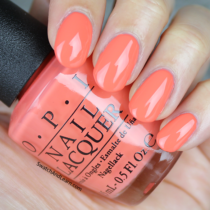 OPI SPF XXX Swatch OPI Retro Summer 2016 Collection Swatches