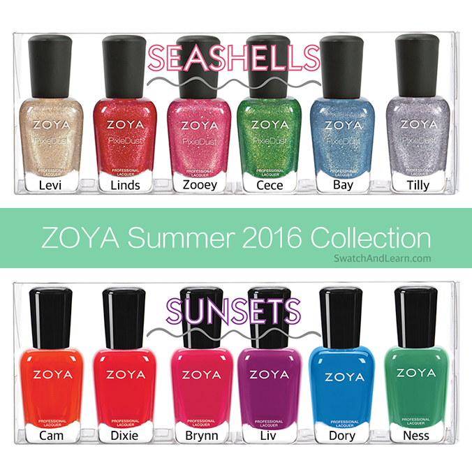 Zoya Summer 2016 Collection Seashells Sunsets