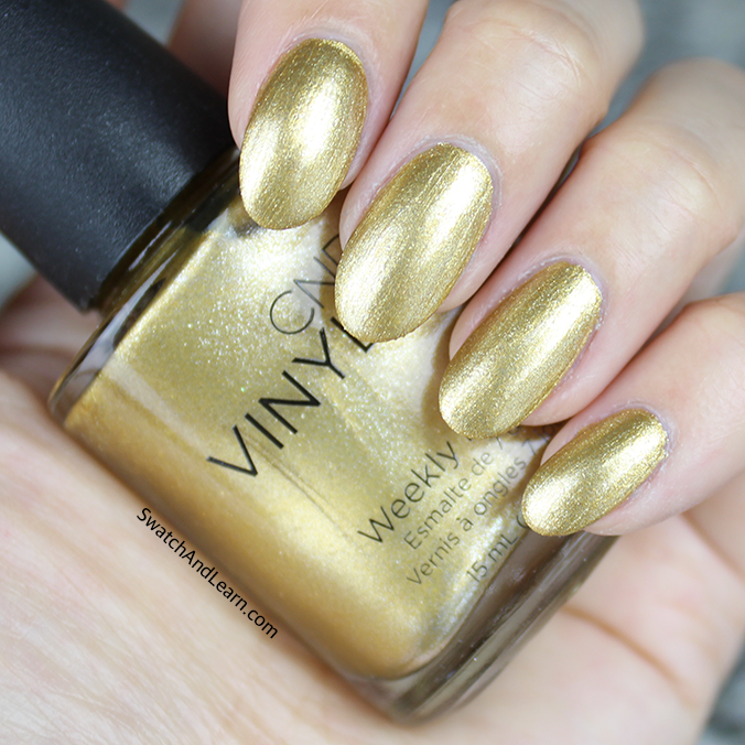 CND Craft Culture Collection Swatches Brass Button Swatch