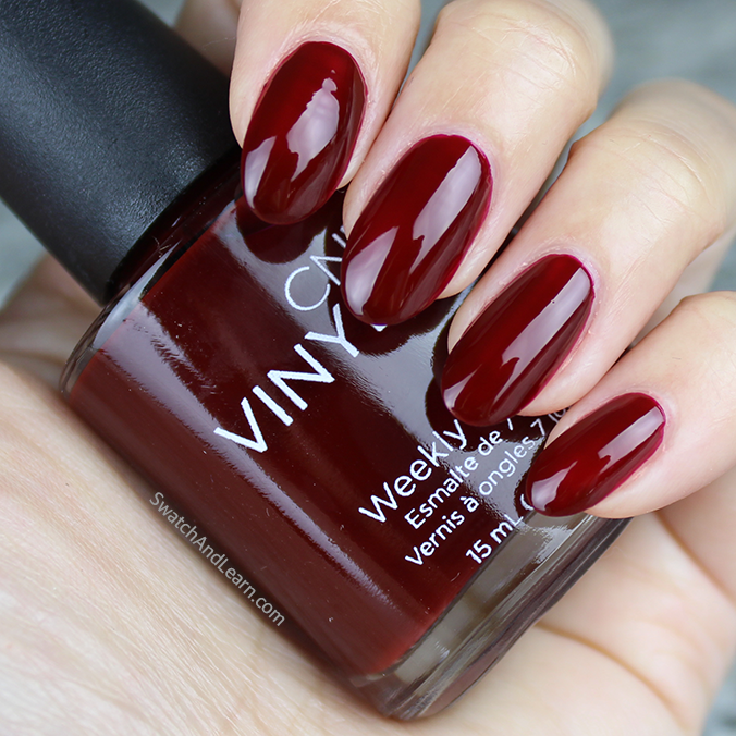 CND Craft Culture Collection Swatches Oxblood Swatch
