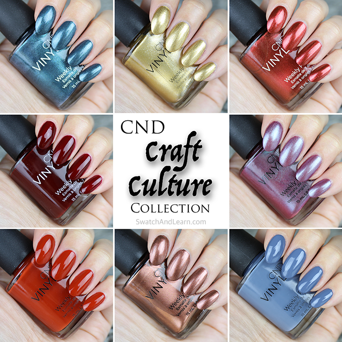 CND Craft Culture Collection Swatches