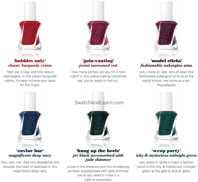 Essie Gel Couture After Party Collection 2