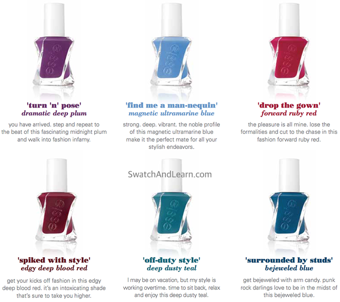 Essie Gel Couture After Party Collection