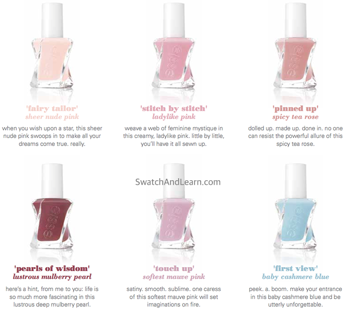 Essie Gel Couture Atelier Collection 2
