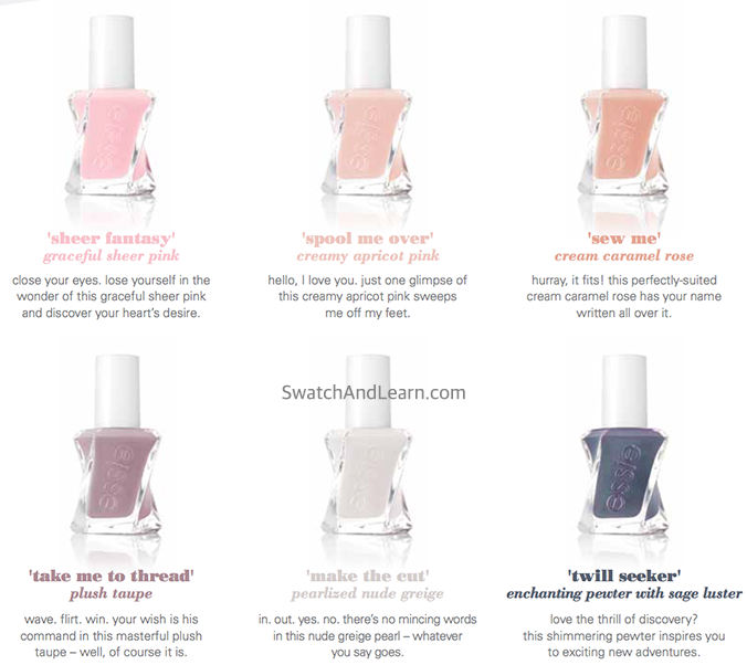Essie Gel Couture Atelier Collection
