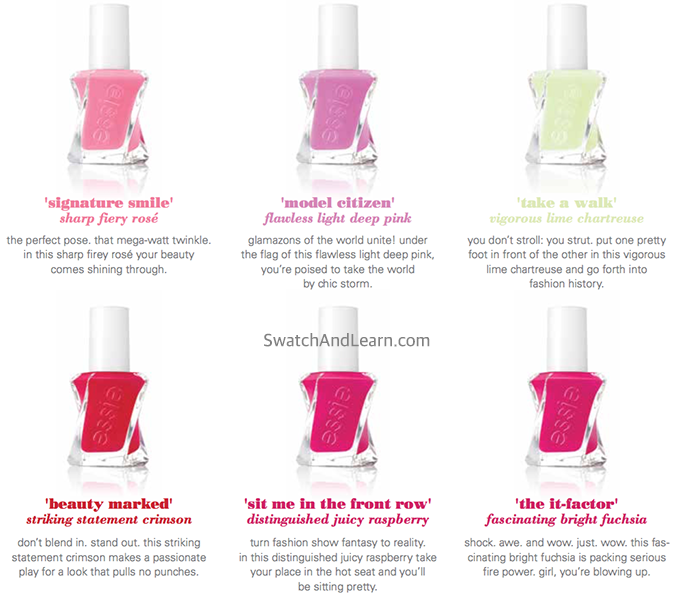Essie Gel Couture Fashion Show Collection 2