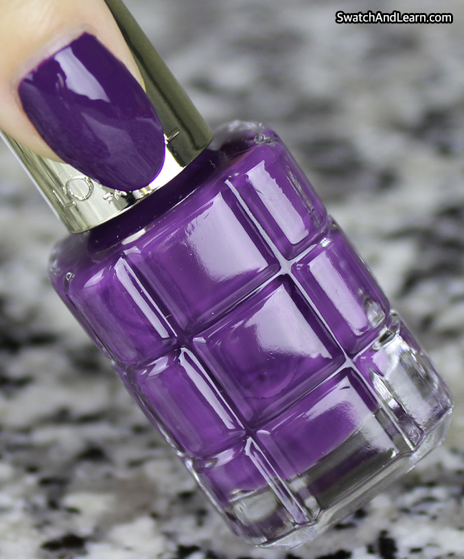 L'Oreal Colour Riche Le Vernis a l'Huile Violet de Nuit Swatch Review