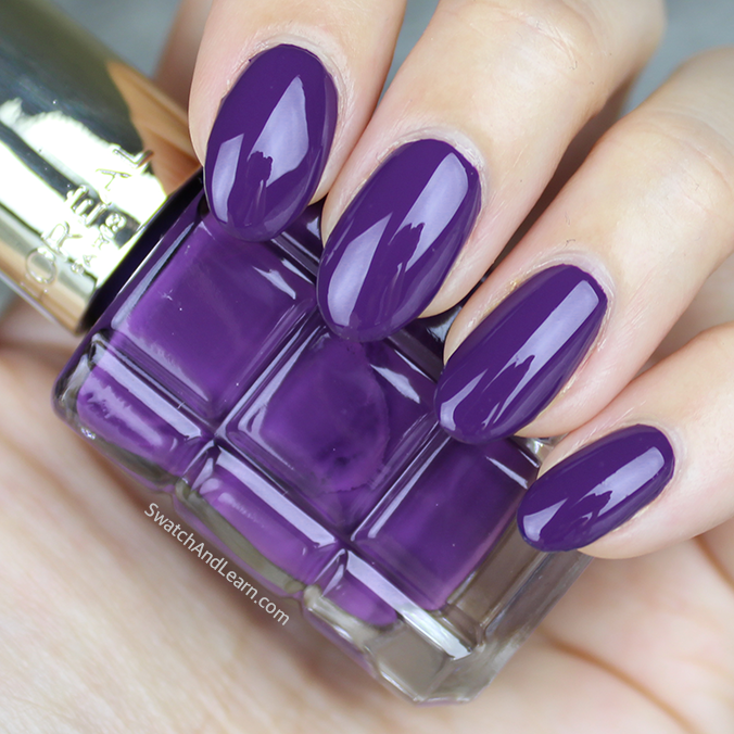 L'Oreal Colour Riche Le Vernis a l'Huile Violet de Nuit Swatches Review