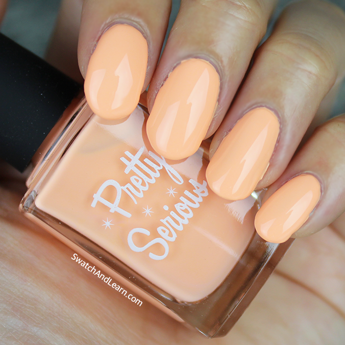 Pretty Serious Peachie Poo Swatch Pastel Pet Names Collection Swatches
