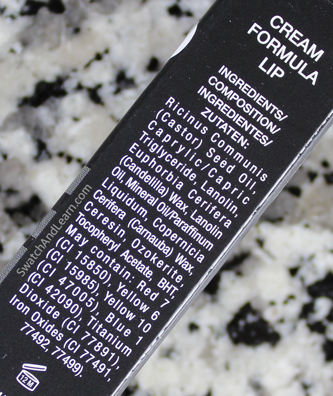 Zoya Cream Lipstick Ingredients
