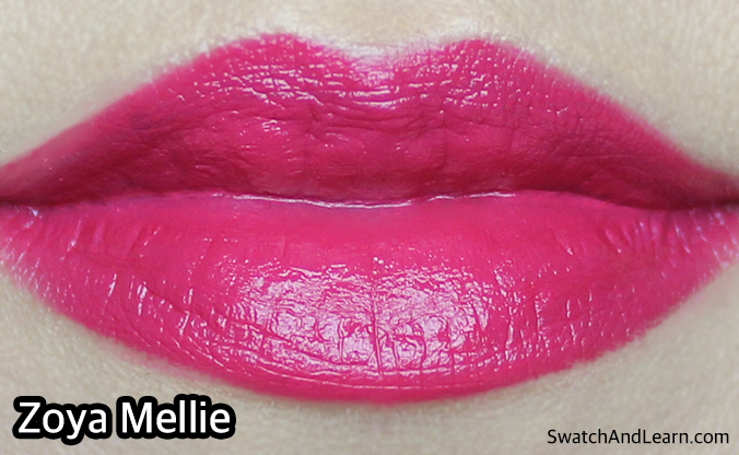 Zoya Mellie Lipstick Swatches