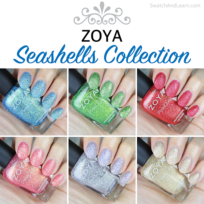 Zoya Seashells Collection Swatches