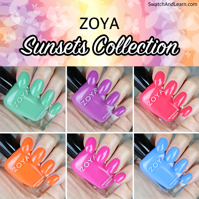 Zoya Sunsets Collection Swatches