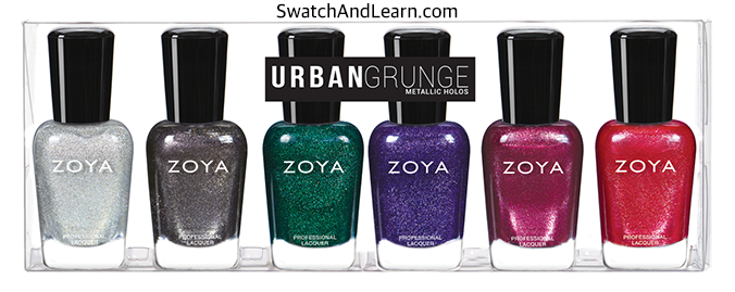 Zoya Urban Grunge Collection Metallic Holos