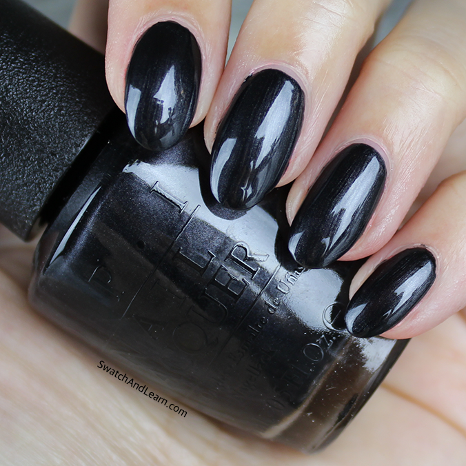 OPI Black Dress Not Optional Swatch OPI Breakfast at Tiffany's Collection Swatches