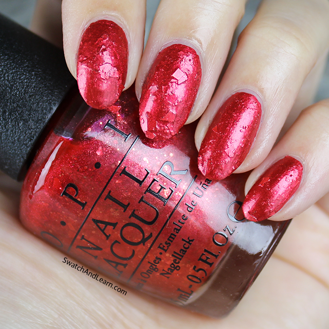 OPI Fire Escape Rendezvous Swatch OPI Breakfast at Tiffany's Collection Swatches