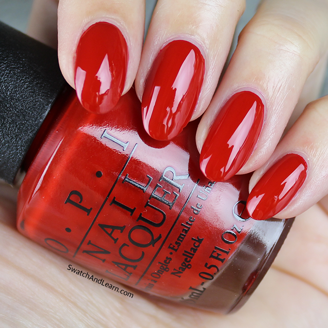 OPI Got the Mean Reds Swatch OPI Breakfast at Tiffany's Collection Swatches