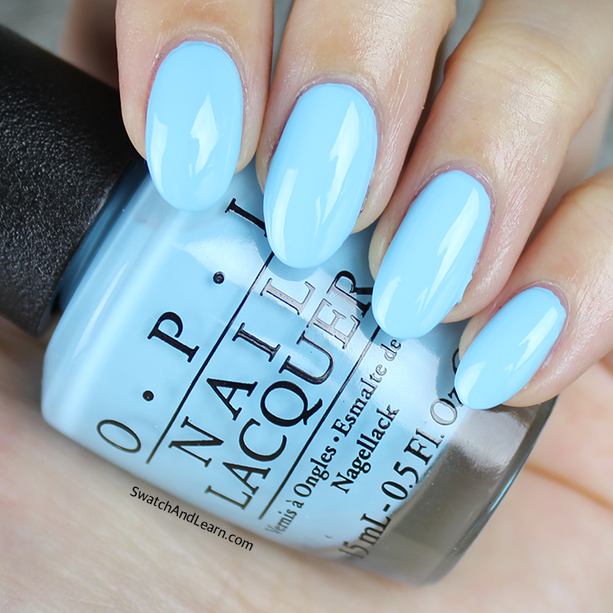 OPI I Believe in Manicures Swatch OPI Breakfast at Tiffany's Collection Swatches