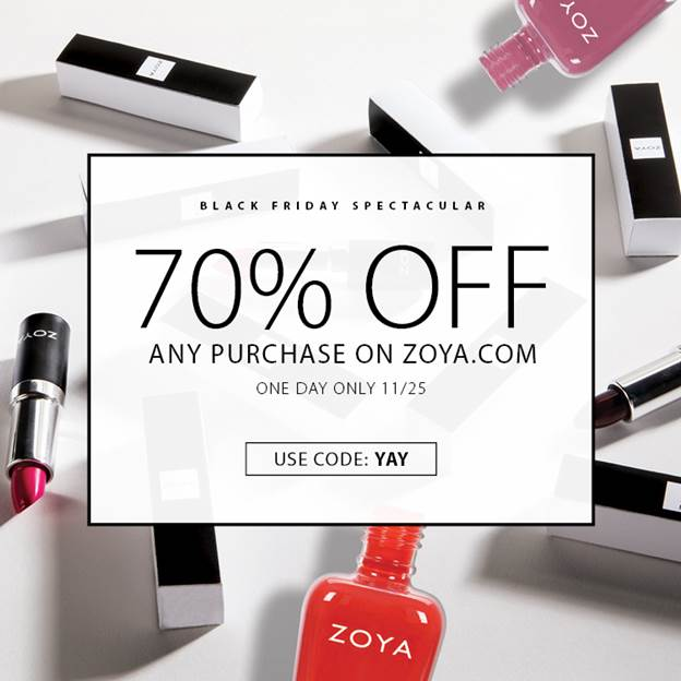 Zoya Black Friday 2016 Deal