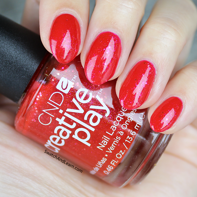 CND Creative Play Celebration Collection Swatches Revelry Red Swatch