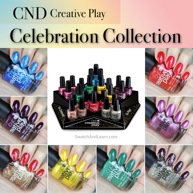 CND Creative Play Celebration Collection Swatches
