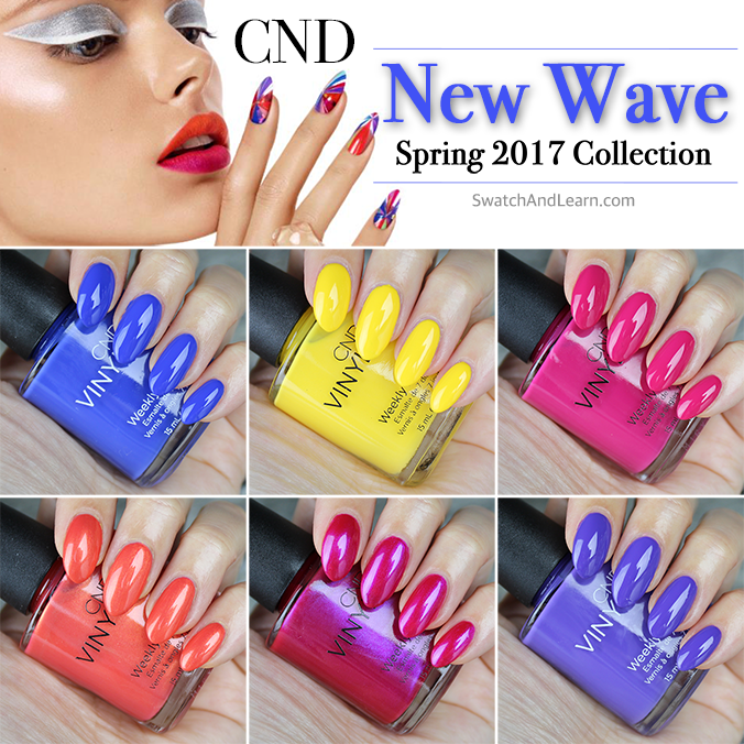 CND New Wave Collection Swatches Review