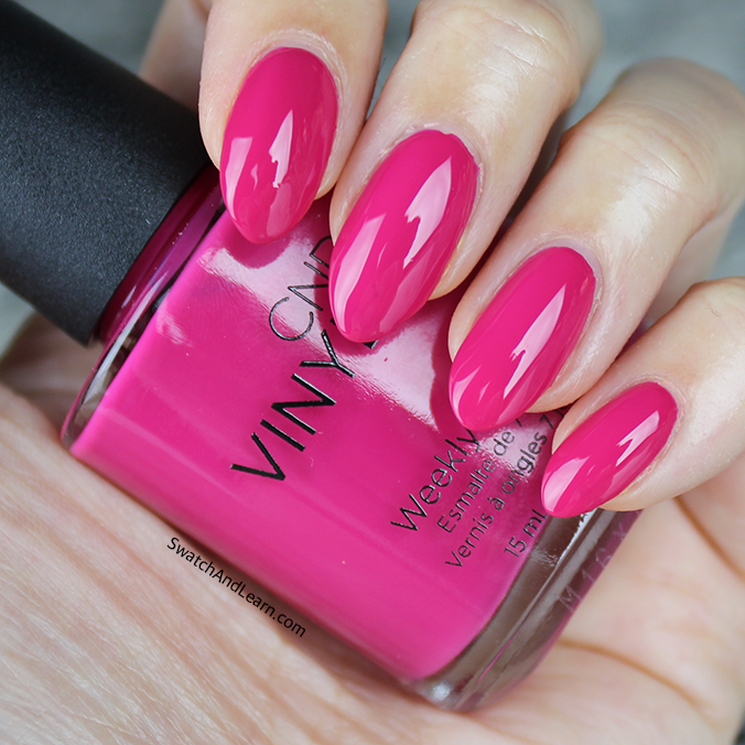 CND Pink Leggings Swatch CND New Wave Collection Swatches