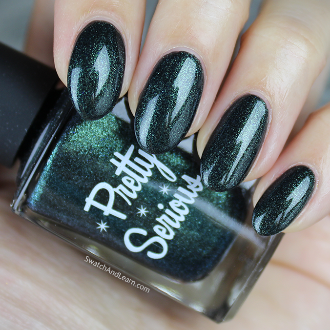 Pretty Serious Enchanting Evergreen Swatch Pretty Serious Ghosts of Christmas Past Collection Swatches