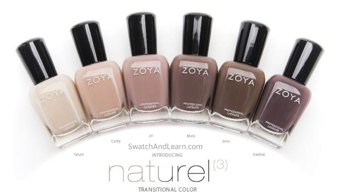 Zoya Naturel 3 Collection Nail Polishes