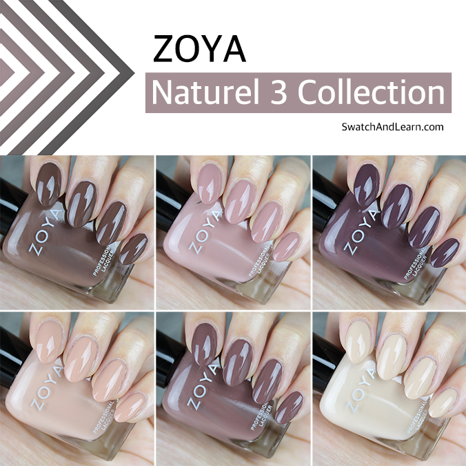 Zoya Naturel 3 Collection Swatches Review