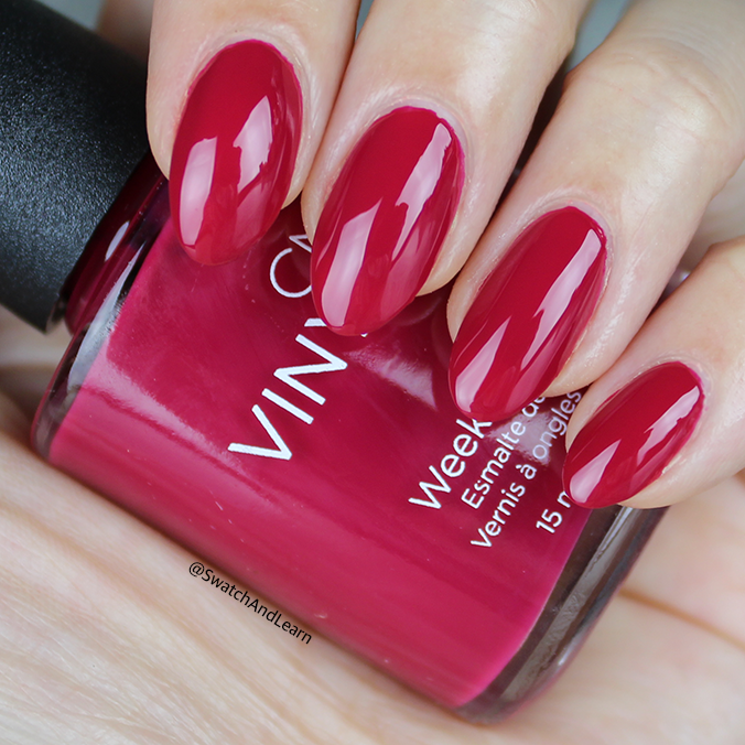 CND Rhythm and Heat Collection Swatches Ripe Guava Swatch