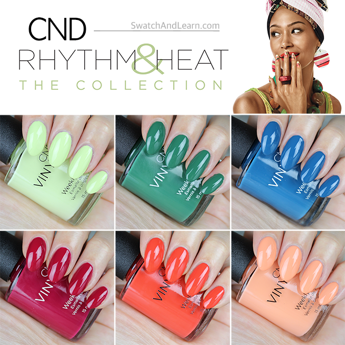 CND Rhythm and Heat Collection Swatches