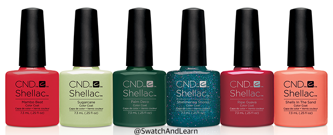 CND Shellac Rhythmn and Heat Collection