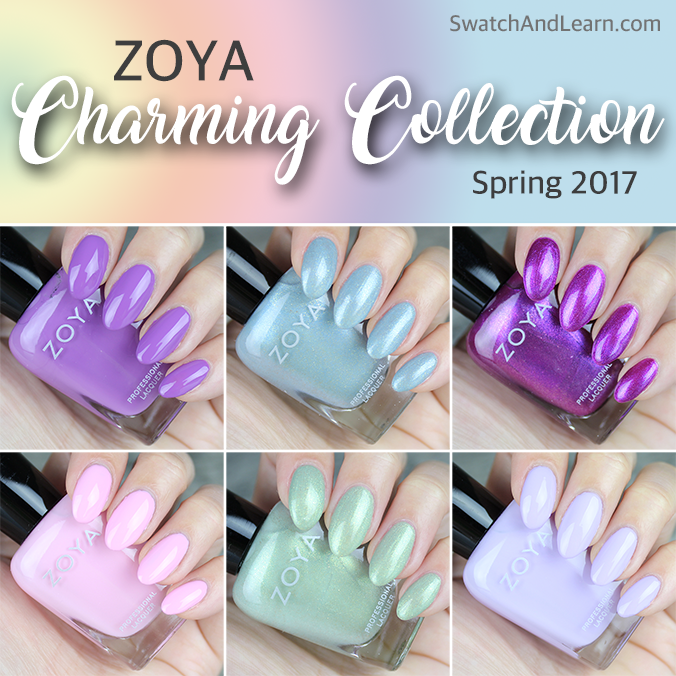 Zoya Charming Collection Swatches
