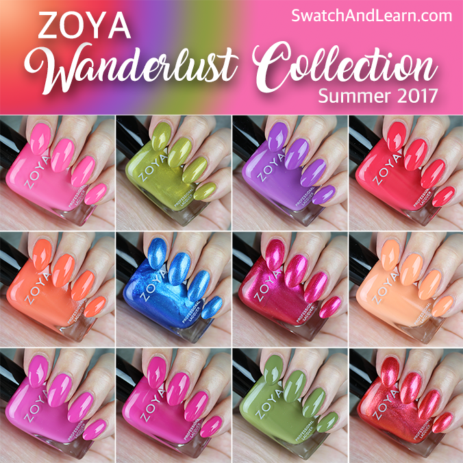 Zoya Wanderlust Collection Swatches