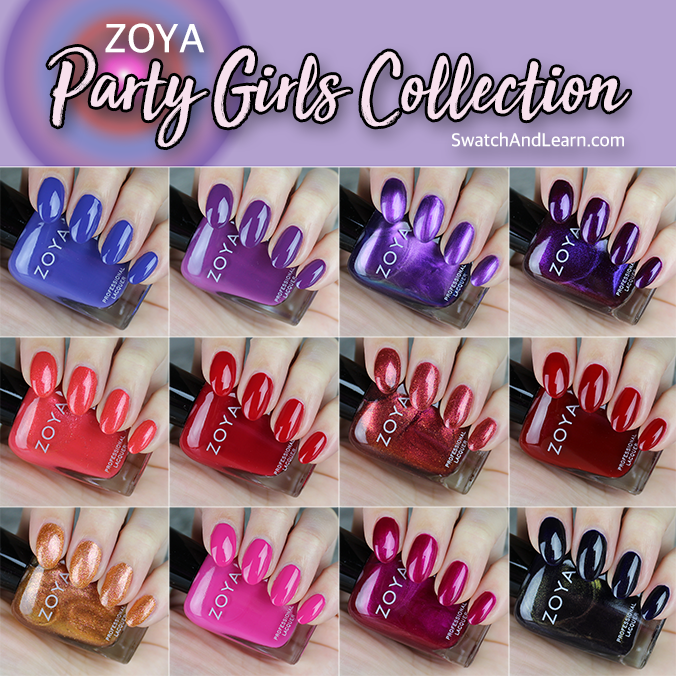 Zoya Party Girls Collection Swatches Review