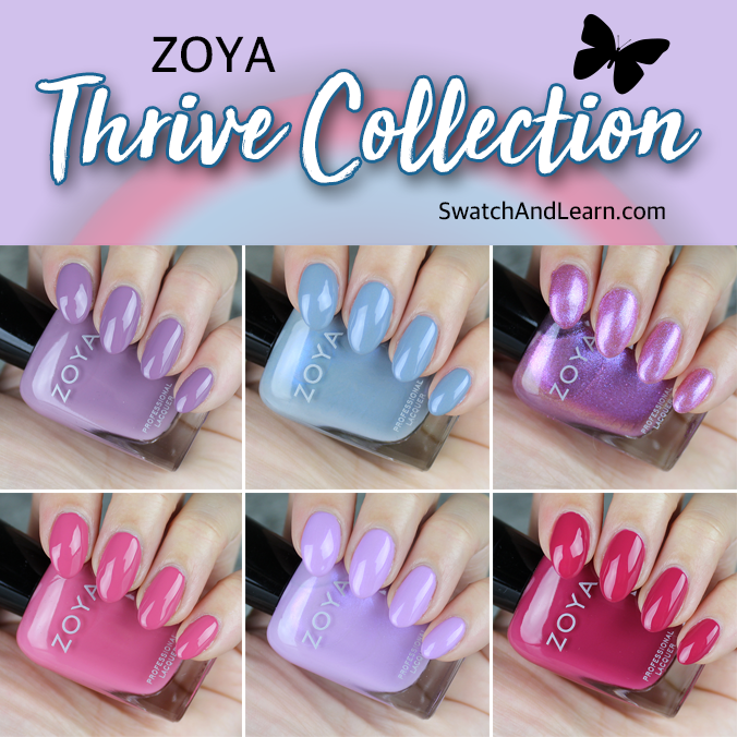 Zoya Thrive Collection Swatches Review