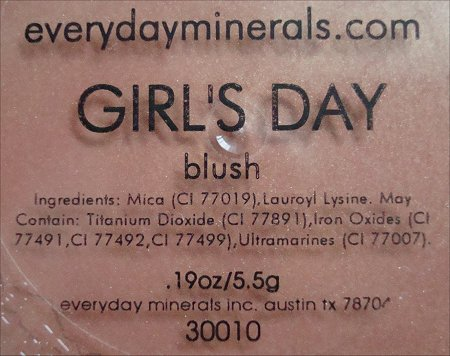 Everyday Minerals Girl's Day Blush Ingredients