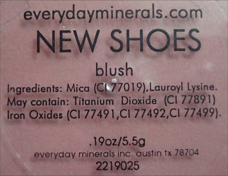 Everyday Minerals New Shoes Blush Ingredients