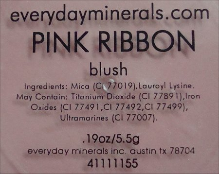 Everyday Minerals Pink Ribbon Blush Ingredients