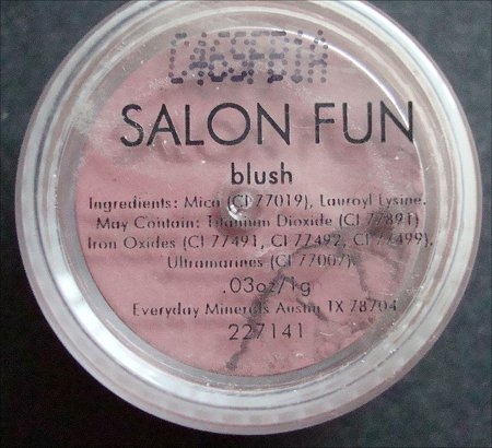 Everyday Minerals Salon Fun Blush Ingredients