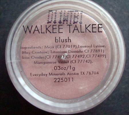 Everyday Minerals Walkee Talkee Blush Ingredients