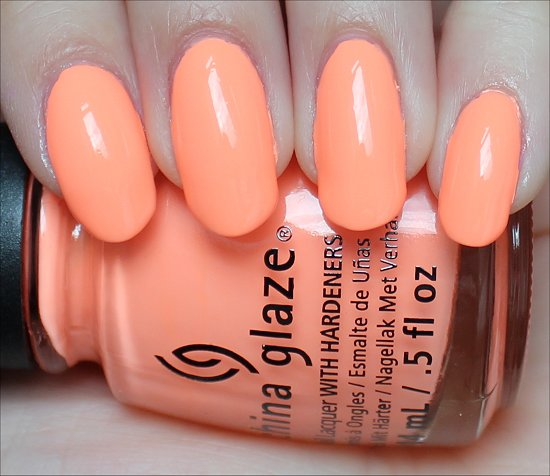 China Glaze Sun of a Peach Swatch & Review