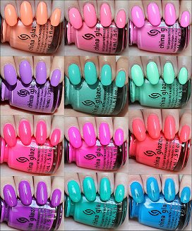 China Glaze Sunsational Collection Swatches, Reviews & Photos