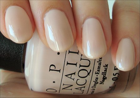 OPI Bubble Bath Nude Mannequin Hands Manicure