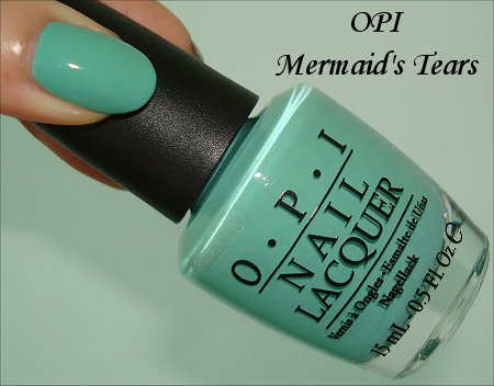 OPI Pirates of the Caribbean Collection OPI Mermaid's Tears Swatches & Review