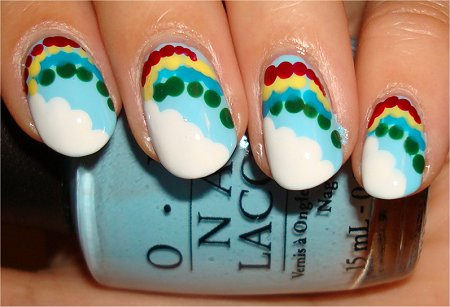 Flash Rainbow Nails Nail-Art Tutorial