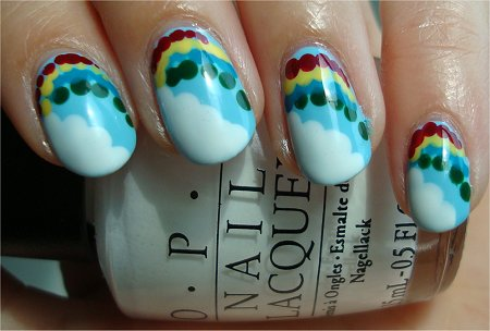 Natural Light Nail Art Rainbow Nails How to Tutorial