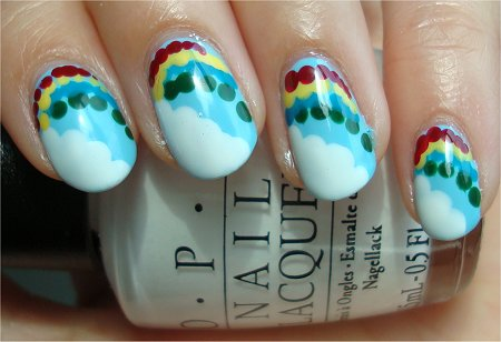 Natural Light Rainbow Nails